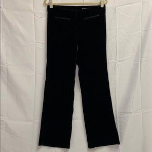 RED Valentino Mid Rise Velvet Pants Black Sz 42